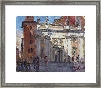 Street Musicians Rome Framed Print by Ylli Haruni