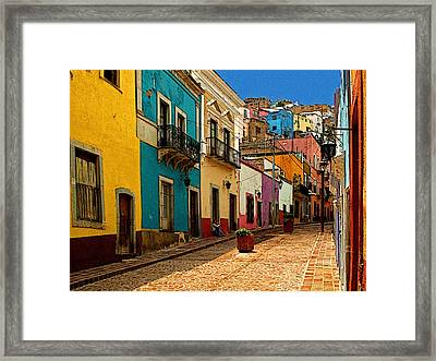 Street Of Color Guanajuato 4 Framed Print by Mexicolors Art Photography