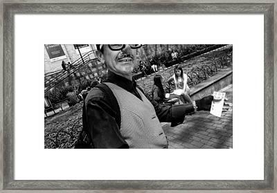 Street Portrait   192  Framed Print by Daniel Gomez