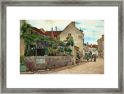 Street Scene From Vichy Framed Print by Hjalmar Sandberg