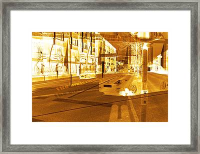 Streets And Cars  Framed Print by Toppart Sweden