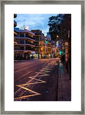 Streets Of Seville At Night 5 Framed Print by Andrea Mazzocchetti