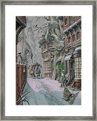 Streets Of Suidemor Framed Print by Tony Hough
