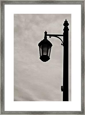 Streetwalker's Umbrella Framed Print by Sarita Rampersad