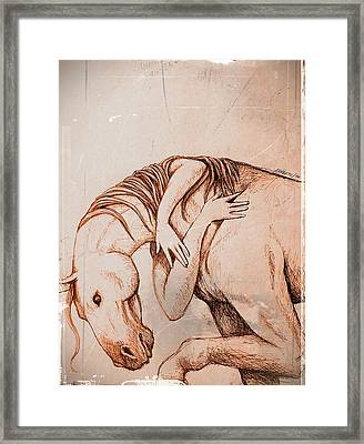 Strength And Affection Framed Print by Paulo Zerbato