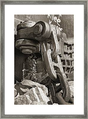 Chains Framed Print featuring the photograph Strength I by Tom Mc Nemar