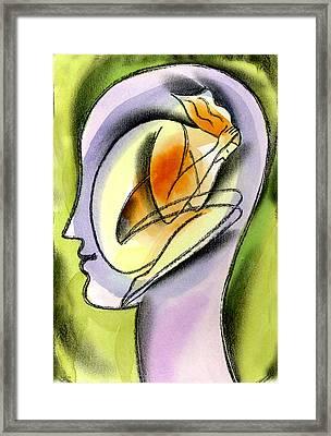 Stress And Psychological Health  Framed Print by Leon Zernitsky