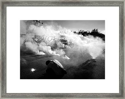 Strike Back Framed Print by Borislav Troshev