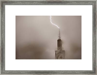 Strike Framed Print by Steve Gadomski