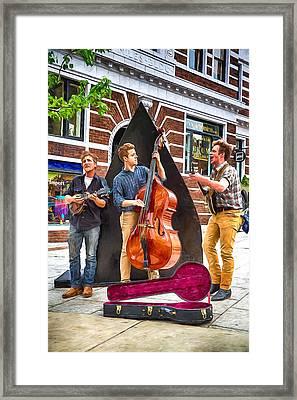 String Trio Framed Print by John Haldane