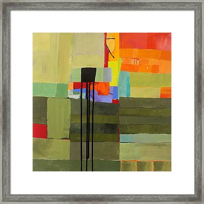 Stripes And Dips 1 Framed Print by Jane Davies
