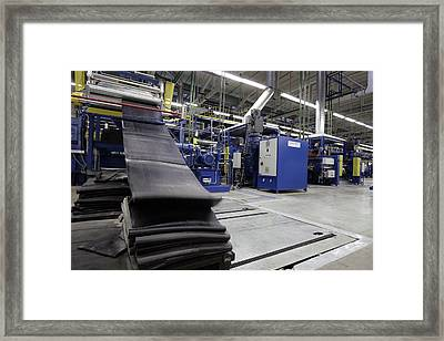 Strips Of Rubber For Tyres Framed Print by Ria Novosti