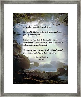 Strive Framed Print by Brian Wallace
