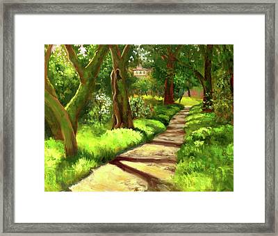 Stroll Through The Oaks Framed Print by Char Wood