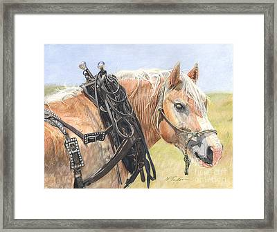 Strong And True Framed Print by Nichole Taylor