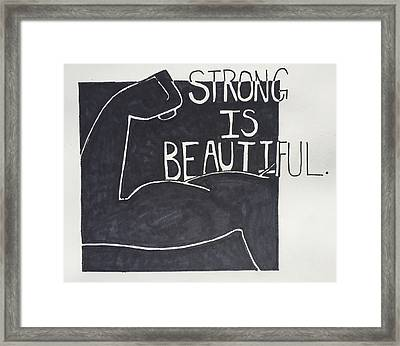 Strong Framed Print by Sara Young