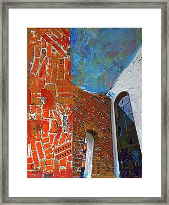 Structure No 100 Framed Print by Walter Fahmy