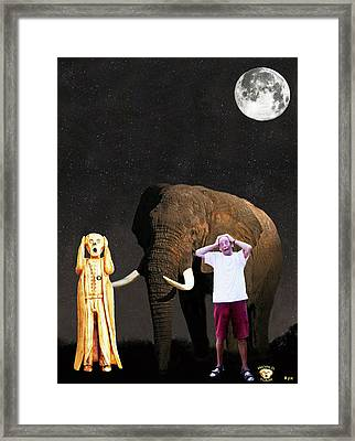 Stuarts African Elephant Scream Framed Print by Eric Kempson
