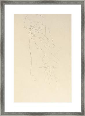 Study For Adele Bloch Bauer II Framed Print by Gustav Klimt