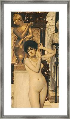 Study For Allegory Of Sculpture Framed Print by Gustav Klimt