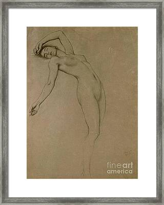 Form Framed Print featuring the drawing Study For Clyties Of The Mist by Herbert James Draper