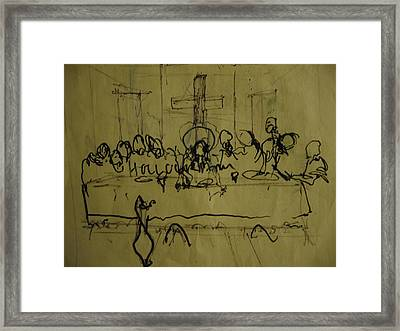 Study For Last Supper Framed Print by Robert Cunningham