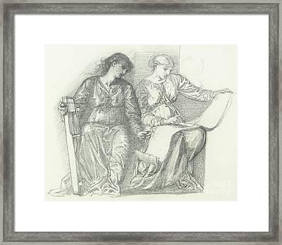 Study For Music Framed Print by Edward Coley Burne-Jones