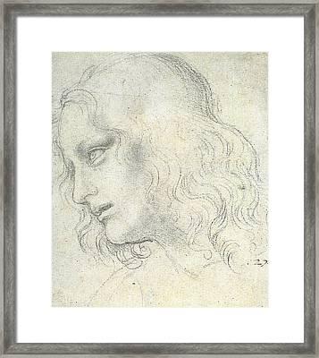 Study For The Last Supper, James Framed Print by Leonardo da Vinci
