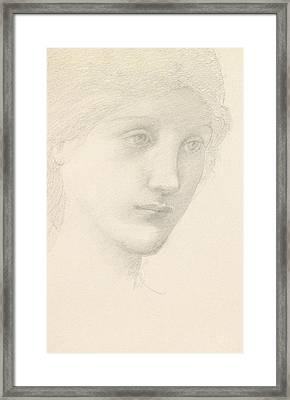 Study For The Venus In The Godhead Fires Framed Print by Sir Edward Burne-Jones