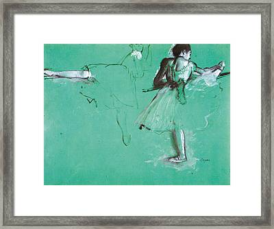 Study For Two Dancers At The Bar Framed Print by Edgar Degas