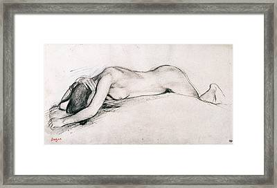 Study For War Scene In The Middle Ages Framed Print by Edgar Degas