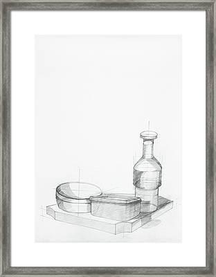 Study Of Kitchen Objects Framed Print by Dan Comaniciu