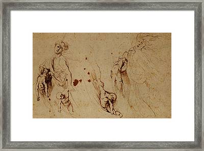 Study Of Medea Slaying Her Children Framed Print by Peter Paul Rubens