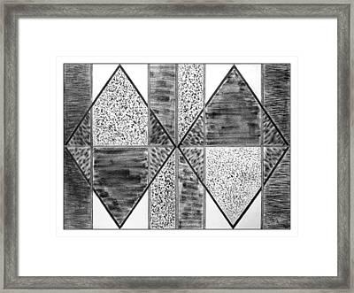 Study Of Texture Line And Materials Framed Print by Peter Piatt