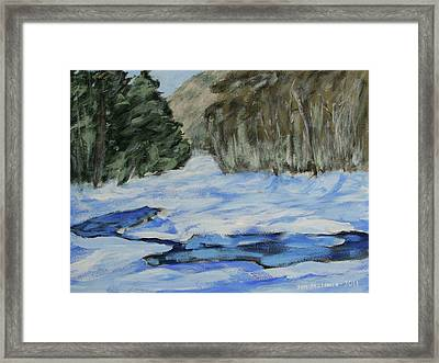 Study Sketch For Winter Creek Framed Print by Jim Justinick
