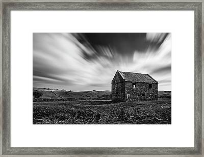 Stunning Long Exposure Black And White Landscape Of Derelict Bar Framed Print by Matthew Gibson