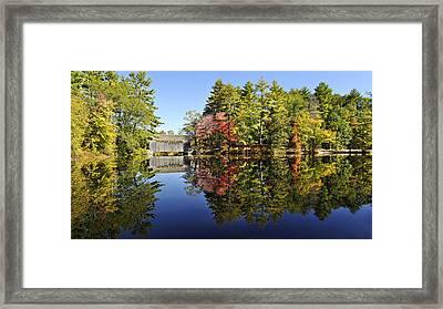 Sturbridge Massachusetts Fall Foliage Framed Print by Luke Moore