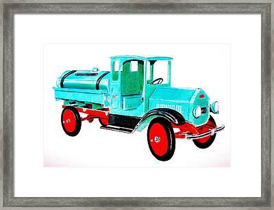 Sturdi Sprinkler Truck Framed Print by Glenda Zuckerman