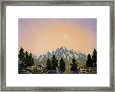 Sublime Sierra Light Framed Print by Frank Wilson