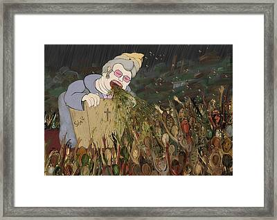 Submit The Bee Lady Framed Print by Phil Vance
