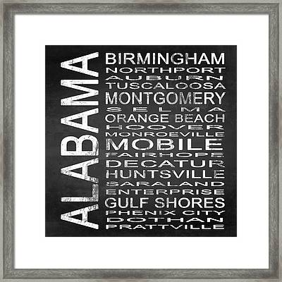 Subway Alabama State Square Framed Print by Melissa Smith