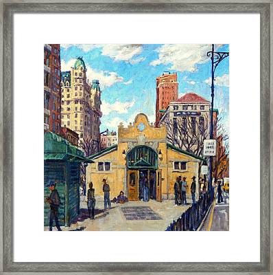 Subway At 72nd Street Nyc Framed Print by Thor Wickstrom