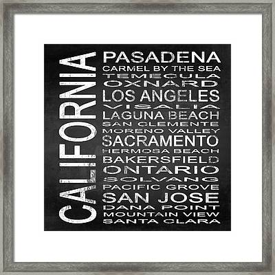 Subway California State 2 Square Framed Print by Melissa Smith