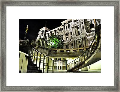 Subway City Hall Framed Print by Andrew Dinh