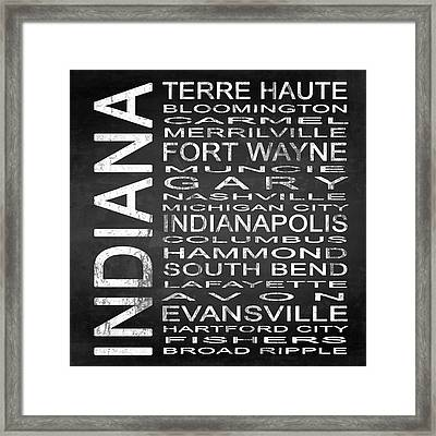Subway Indiana State Square Framed Print by Melissa Smith