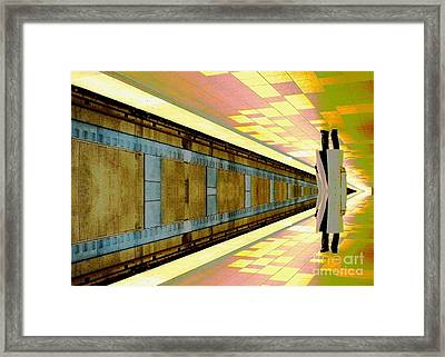 Subway Man Framed Print by Jenny Revitz Soper