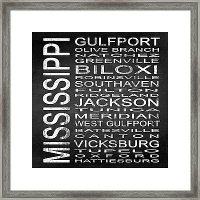 Subway Mississippi State Square Framed Print by Melissa Smith