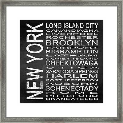 Subway New York State 3 Square Framed Print by Melissa Smith