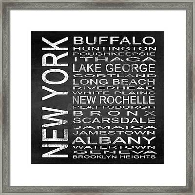 Subway New York State Square Framed Print by Melissa Smith