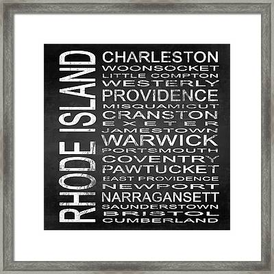 Subway Rhode Island State Square Framed Print by Melissa Smith